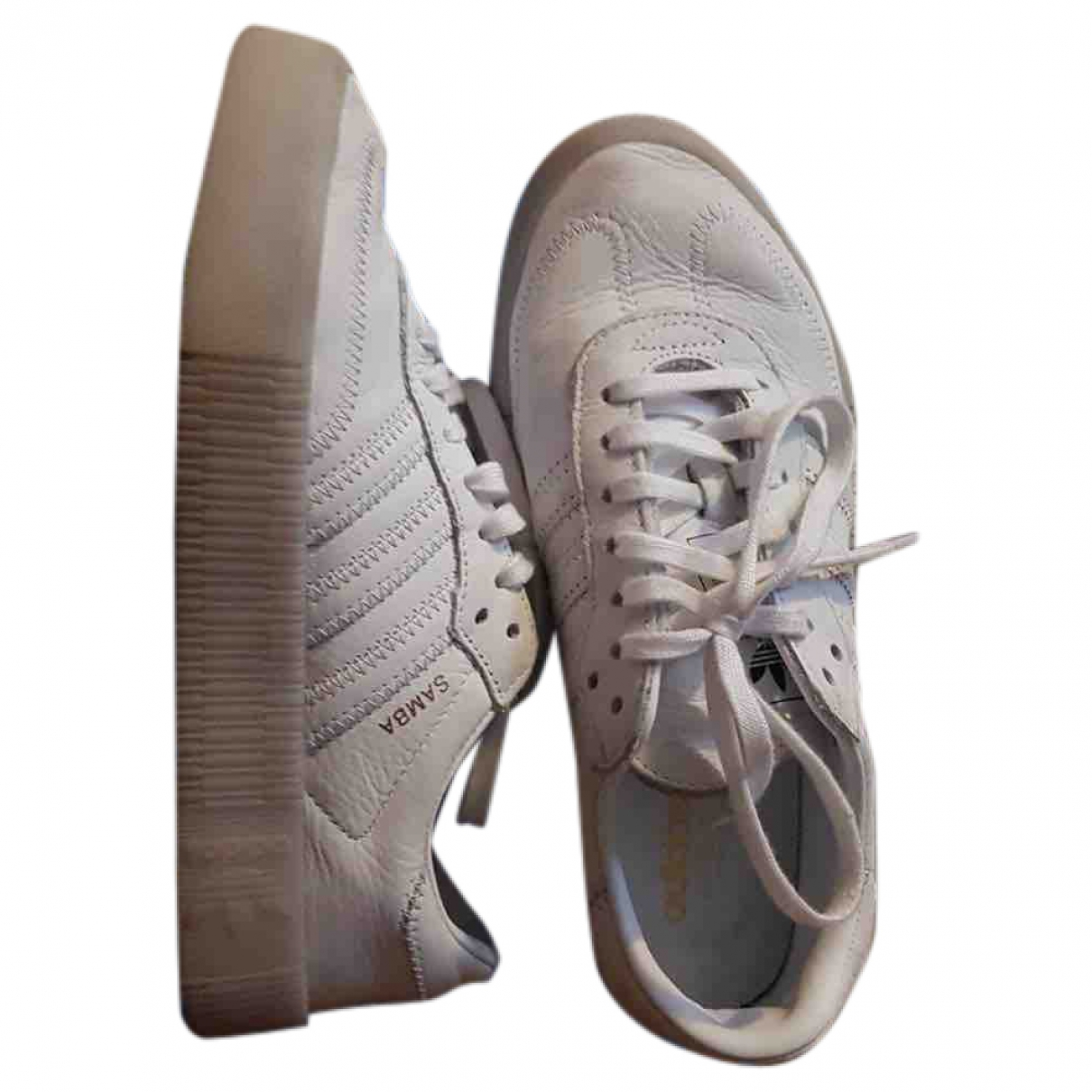 Adidas Samba Sneakers in  Weiss Leder