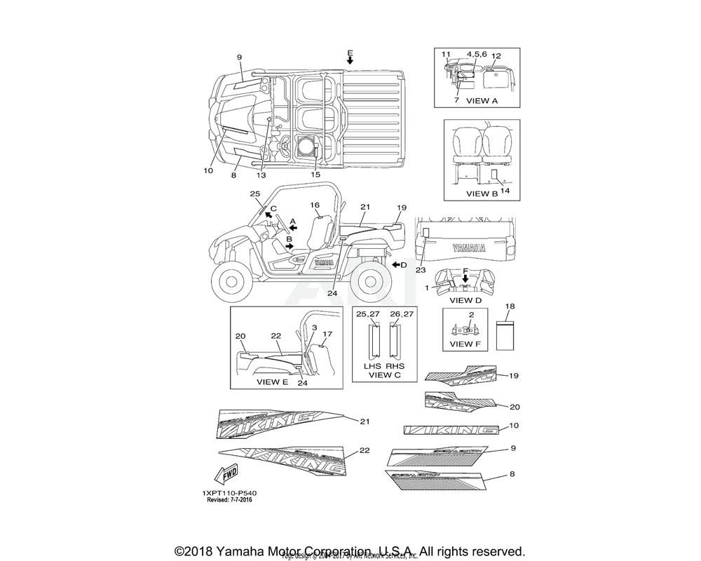Yamaha OEM 1XD-F1781-30-00 EMBLEM 1