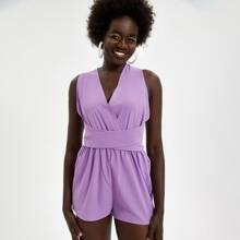 Criss Cross Tie Back Romper