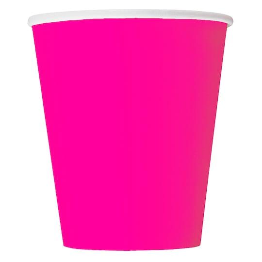 9 Oz Neon Pink Paper Cups, 14Ct By Unique | Michaels®