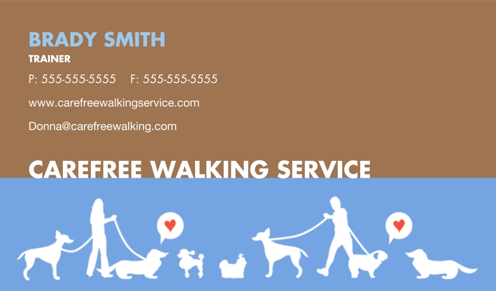 Modern Business Cards, Set of 40, Card & Stationery -Pet Care