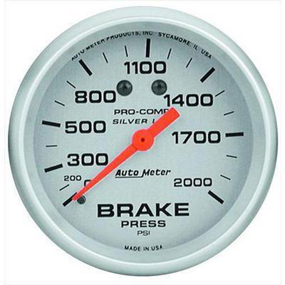 Auto Meter Silver Brake Pressure Gauge - 4626