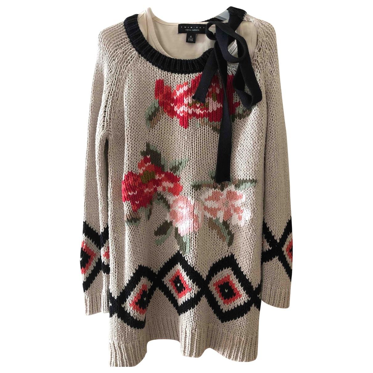Twin Set - Robe    pour enfant en laine - multicolore