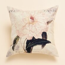 Floral Pattern Cushion Cover Without Filler