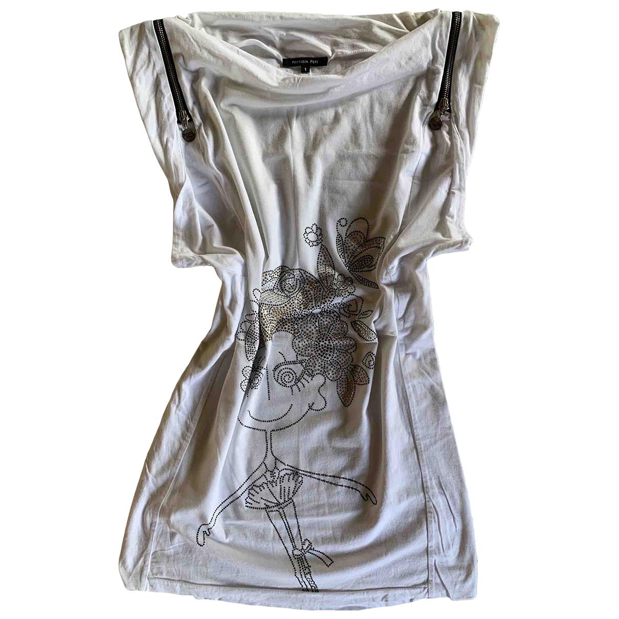 Patrizia Pepe \N White Cotton - elasthane dress for Women 1 US