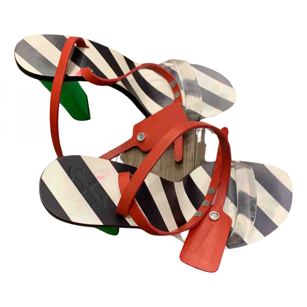 Off-white \N Sandalen in Leder