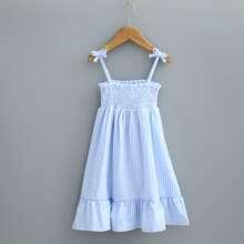 Toddler Girls Shirred Detail Cami Dress