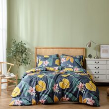 Flower Print Bedding Set Without Filler