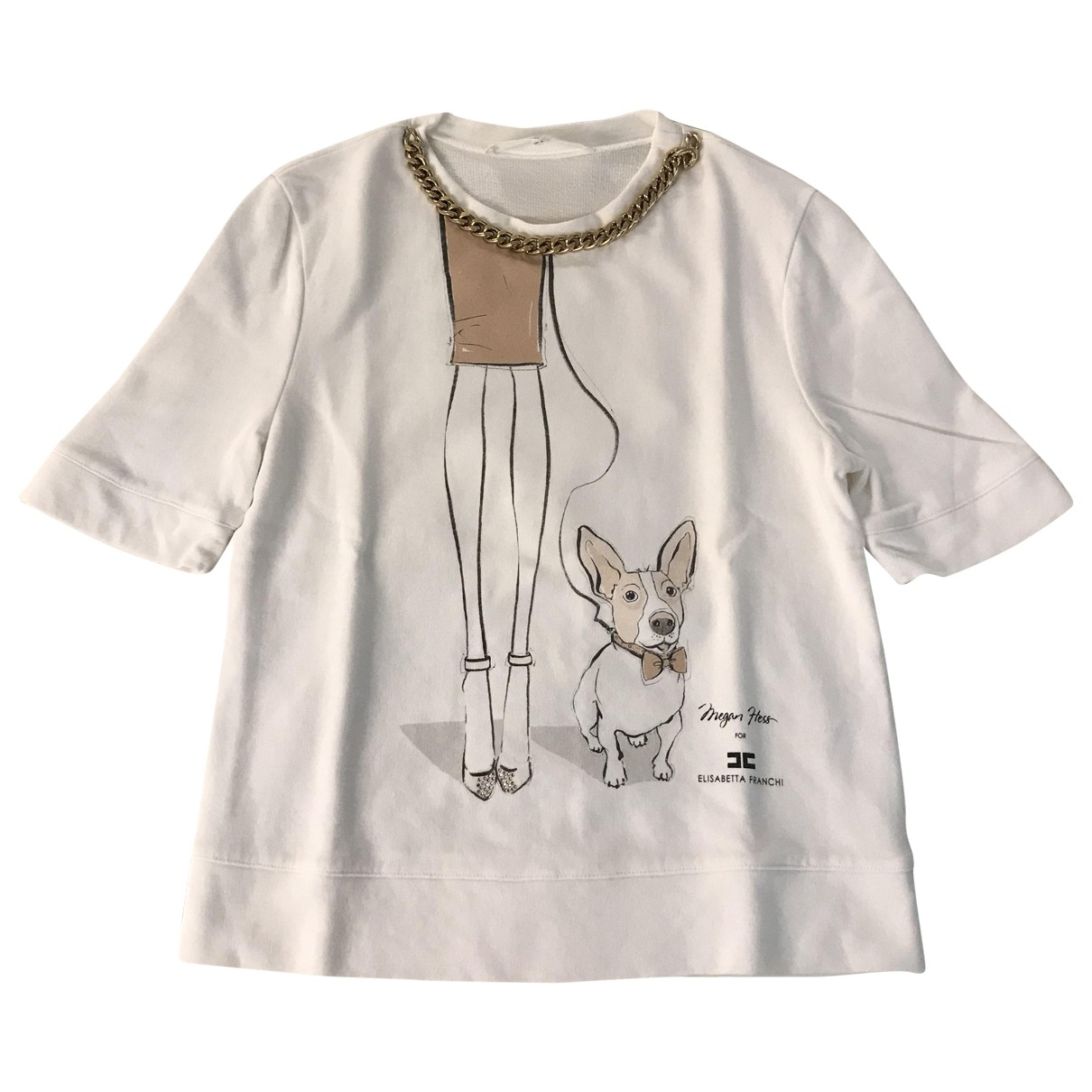 Elisabetta Franchi \N White Cotton  top for Women 44 IT