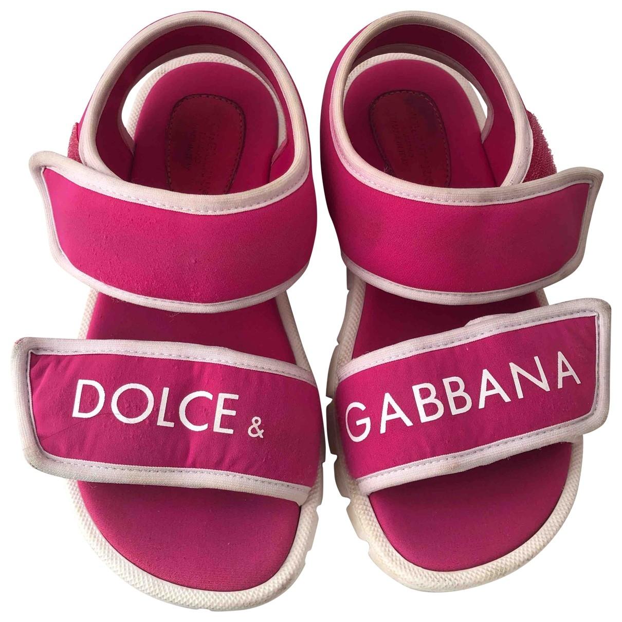 Dolce & Gabbana - Sandales   pour enfant - rose