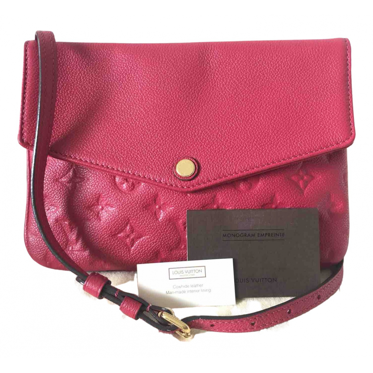 Louis Vuitton Twice Pink Leather handbag for Women \N