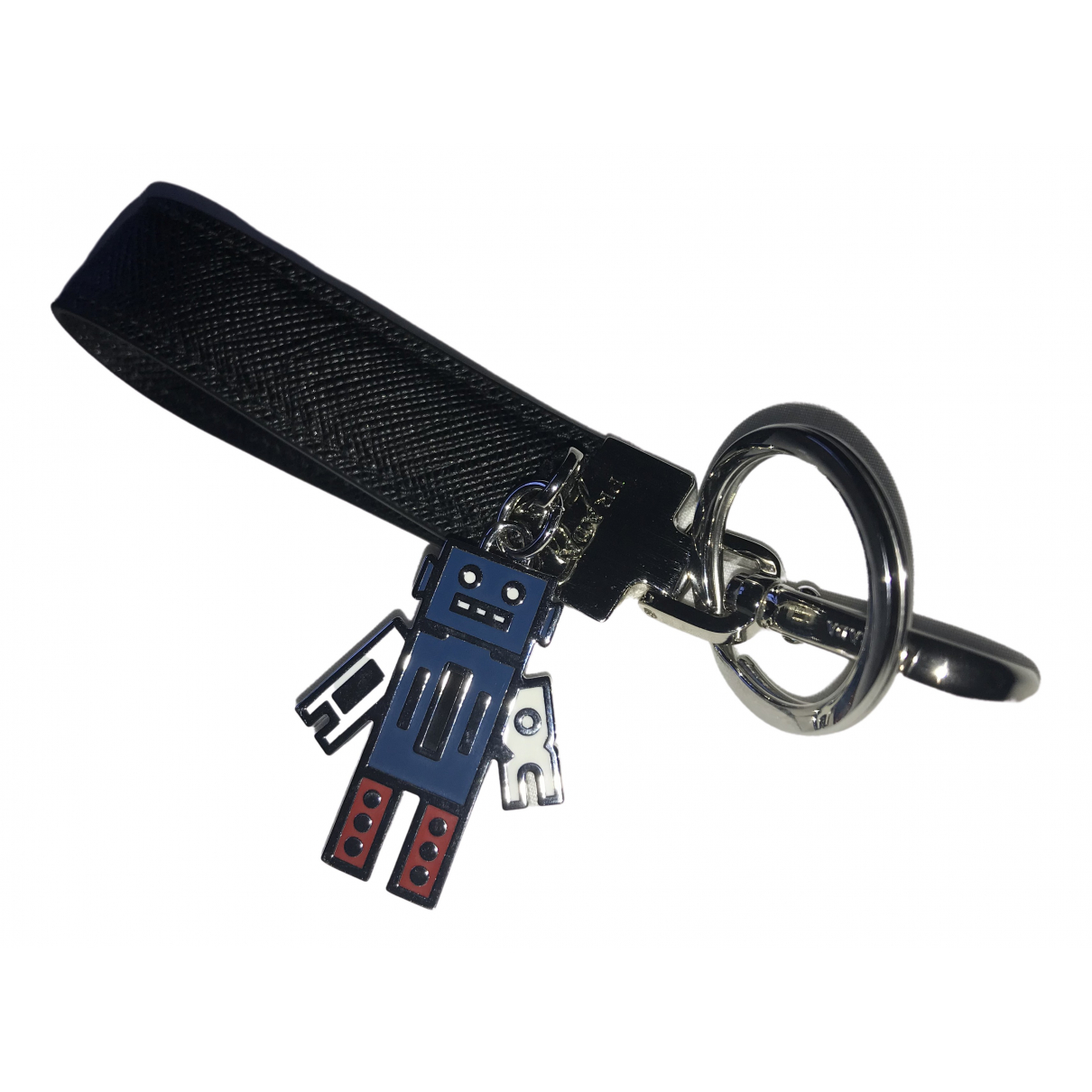 Prada \N Black Metal Bag charms for Women \N