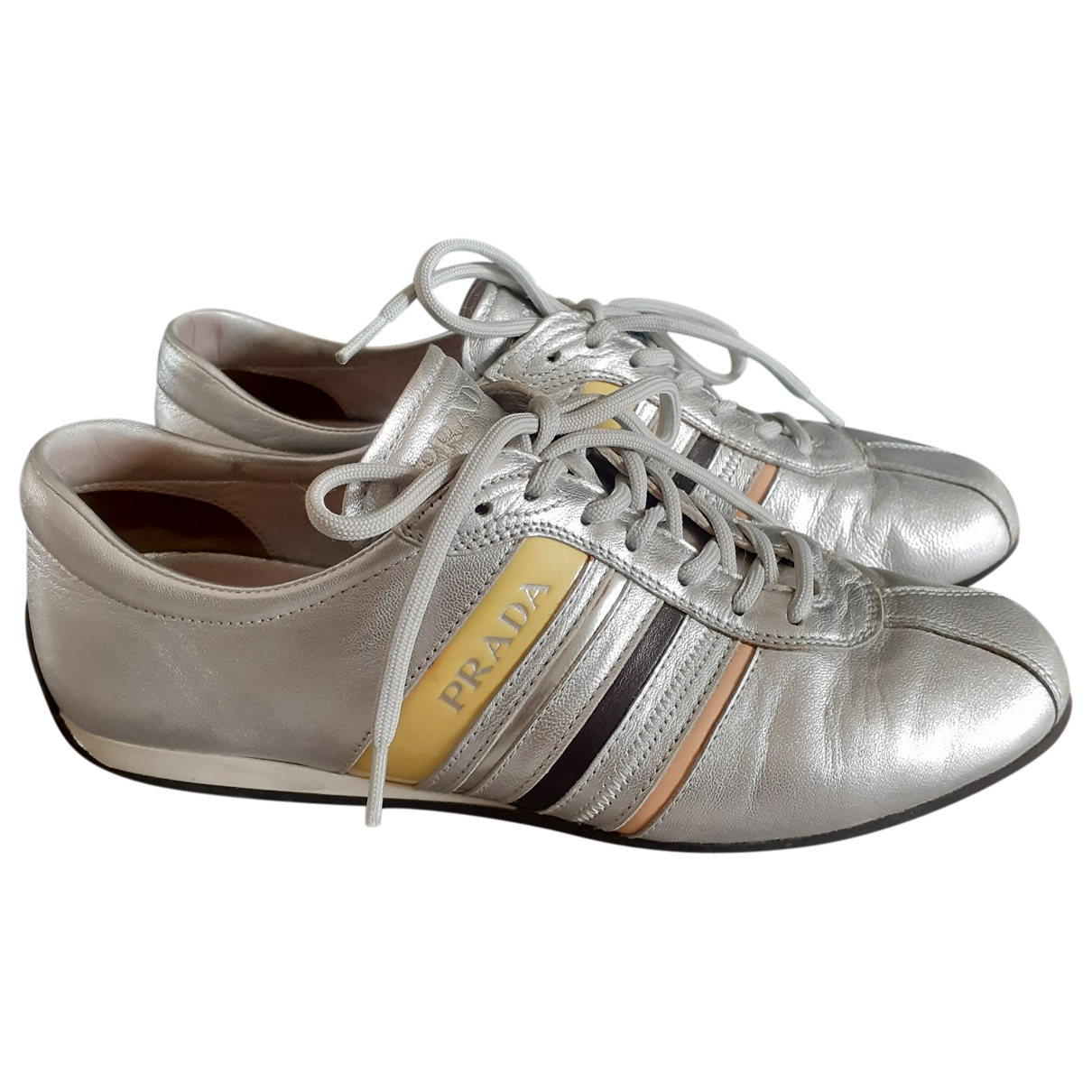 Prada \N Sneakers in  Metallic Leder