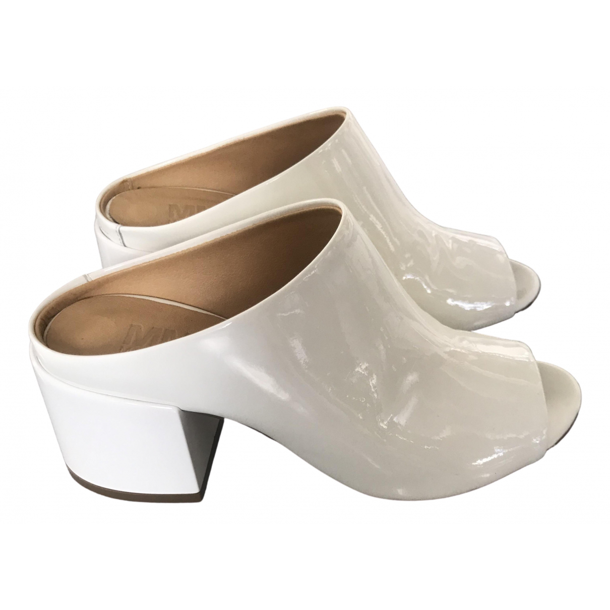 Maison Martin Margiela \N White Patent leather Sandals for Women 37 EU