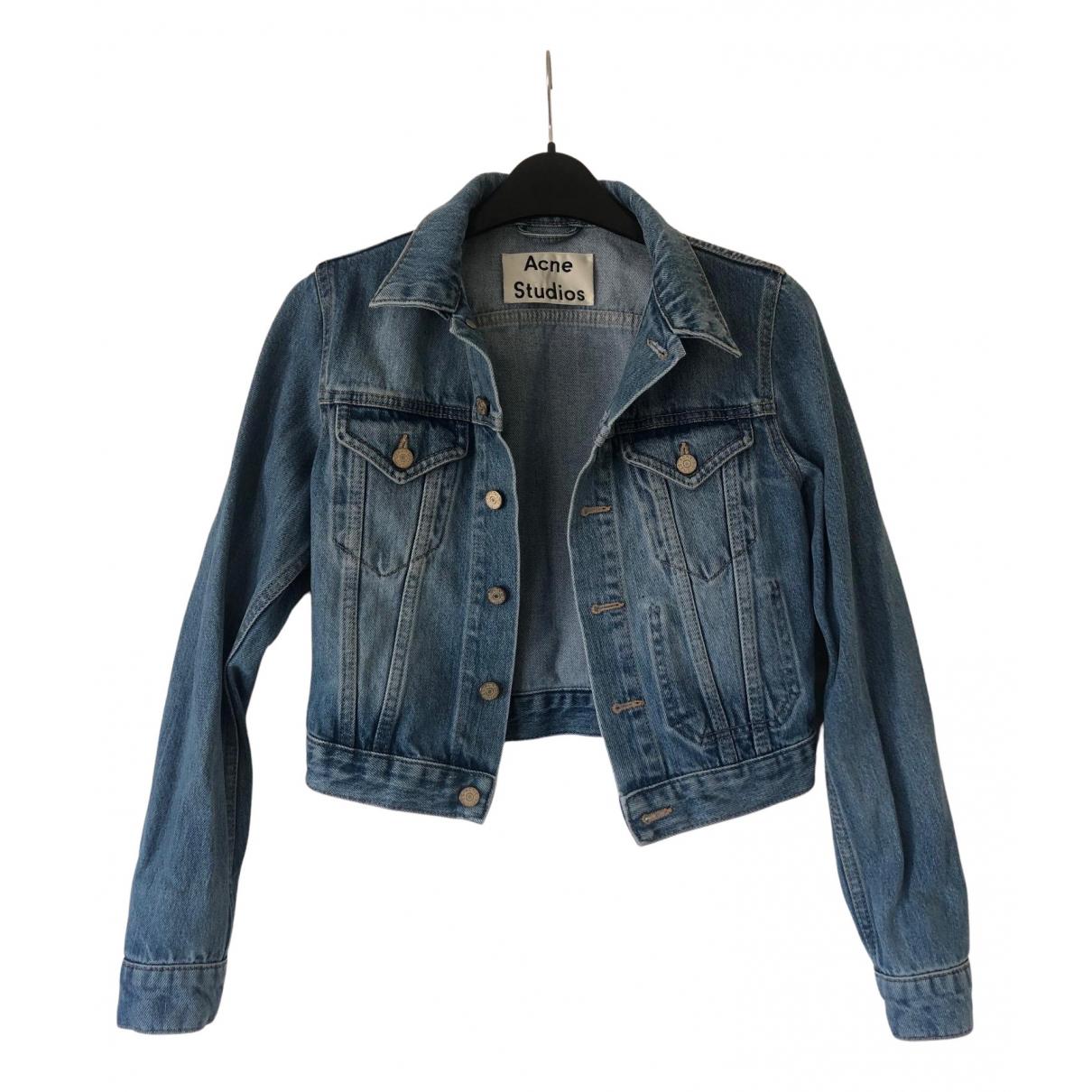 Acne Studios N Blue Denim - Jeans jacket for Women 32 FR