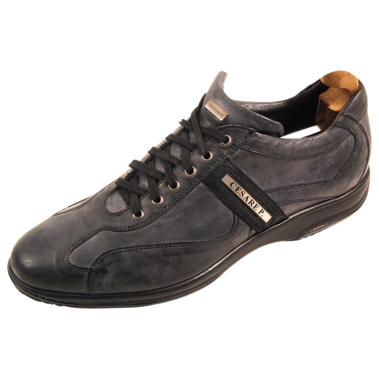 Cesare Paciotti \N Grey Leather Trainers for Men 44 EU
