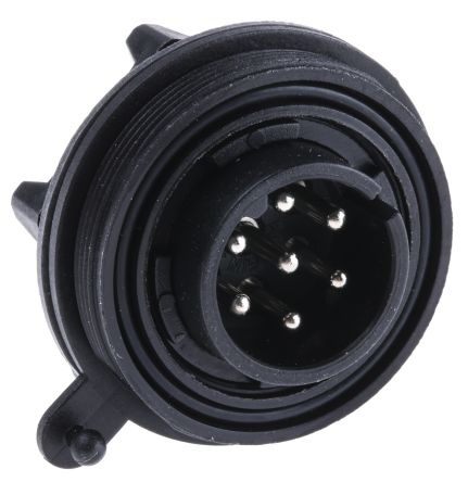 Bulgin Connector, 7 contacts Panel Mount Plug, Screw IP68