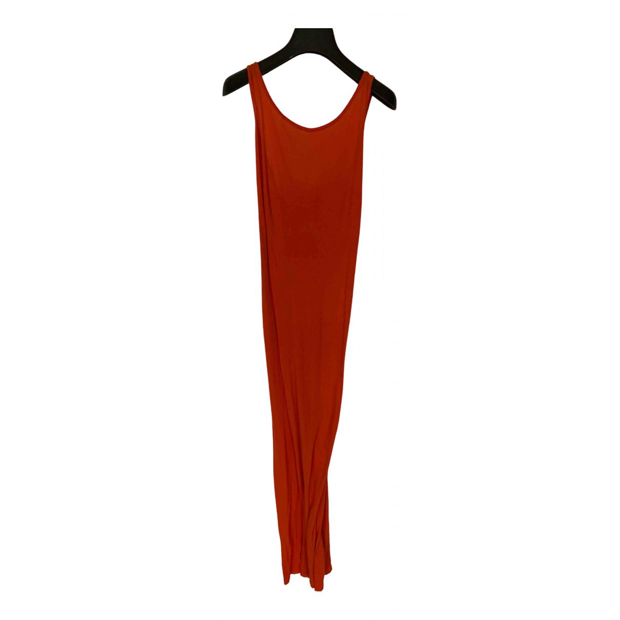 Boris Bidjan Saberi \N Kleid in  Orange Baumwolle - Elasthan