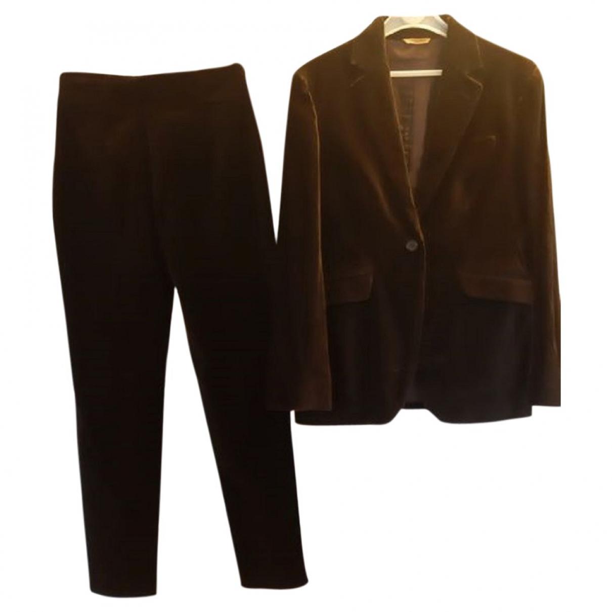 Non Signé / Unsigned \N Brown Velvet jacket for Women 44 IT