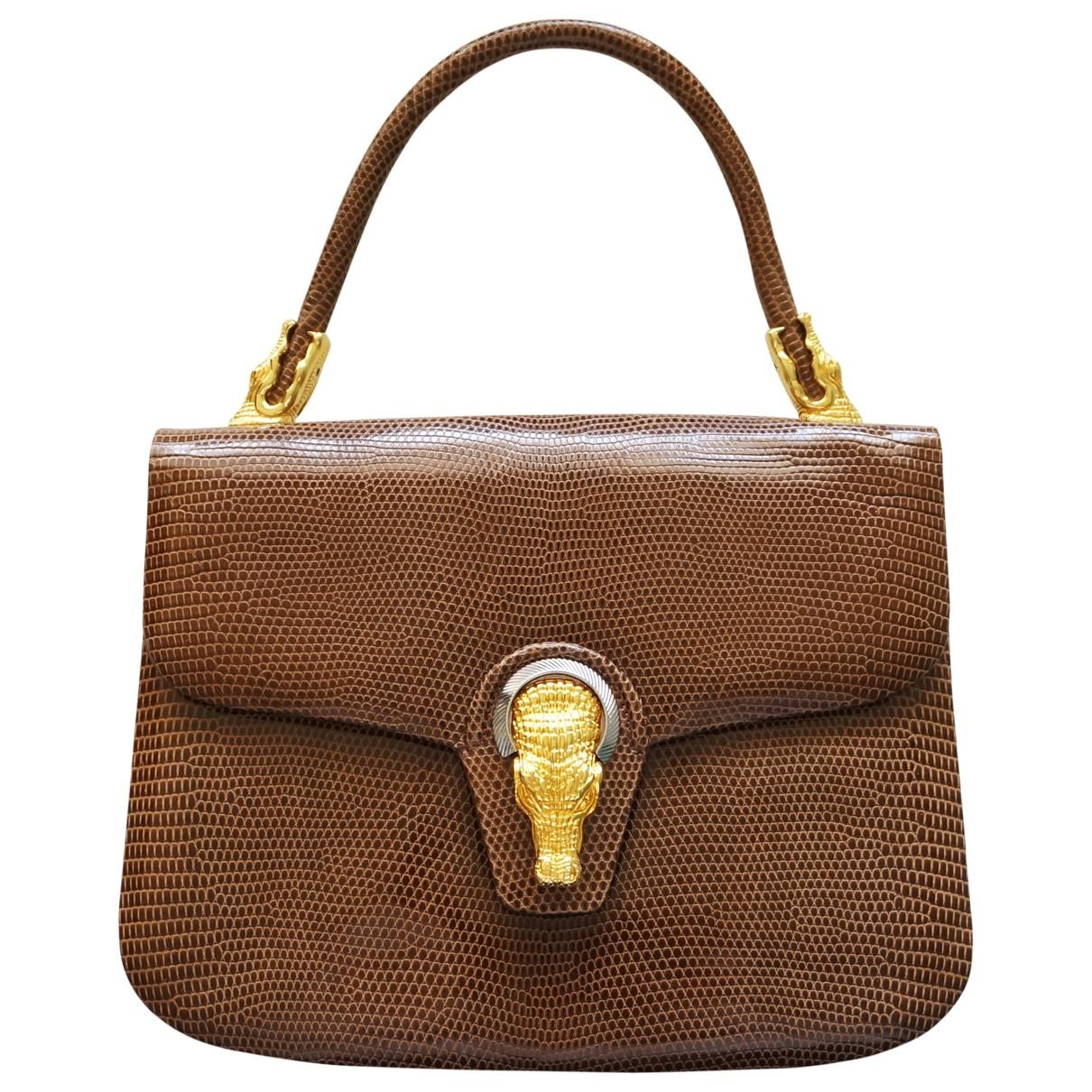 Finesse - Sac a main   pour femme en cuir exotique - marron