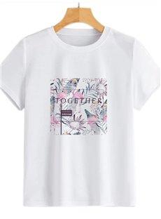 Beddinginn Hand Painted Standard Round Neck Short Sleeve Straight Women's T-Shirt