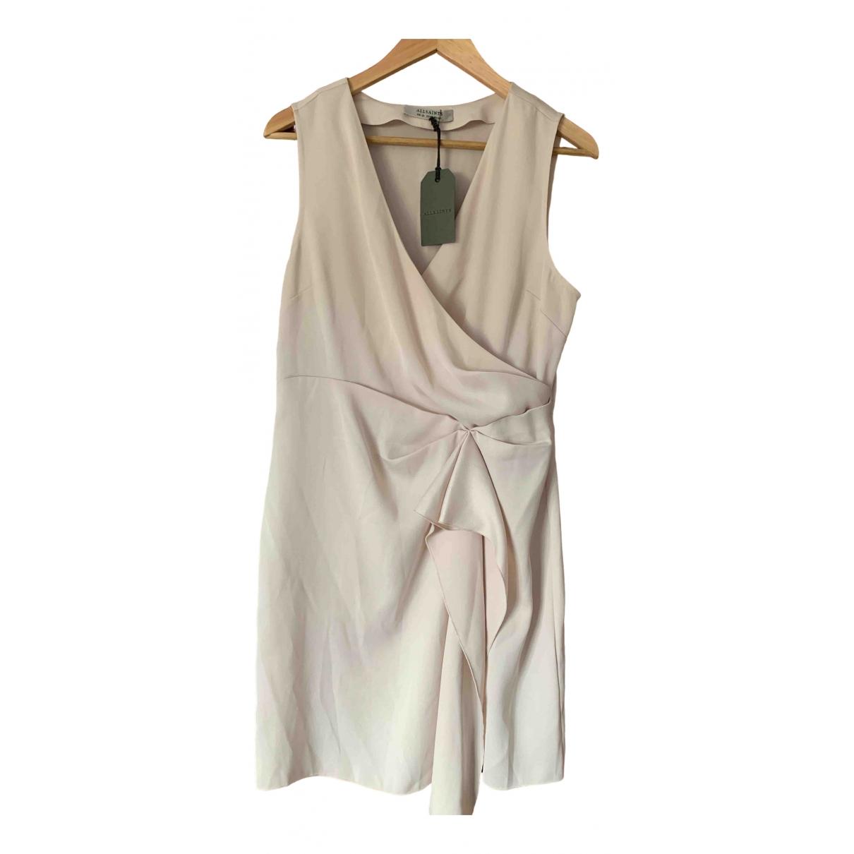All Saints \N Kleid in  Beige Synthetik