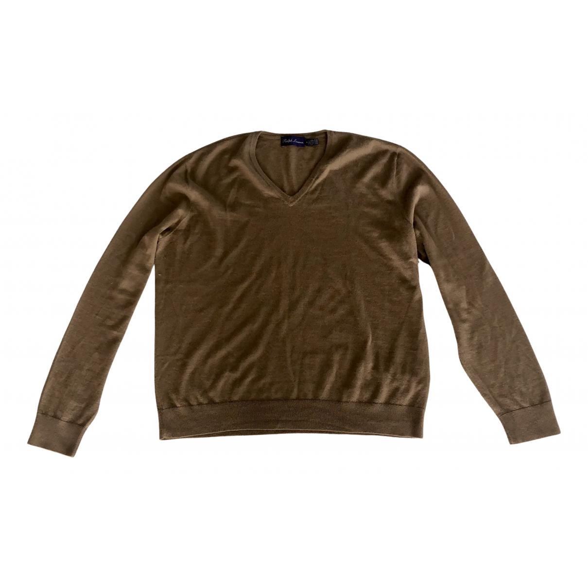 Ralph Lauren Purple Label \N Pullover.Westen.Sweatshirts  in  Braun Kaschmir