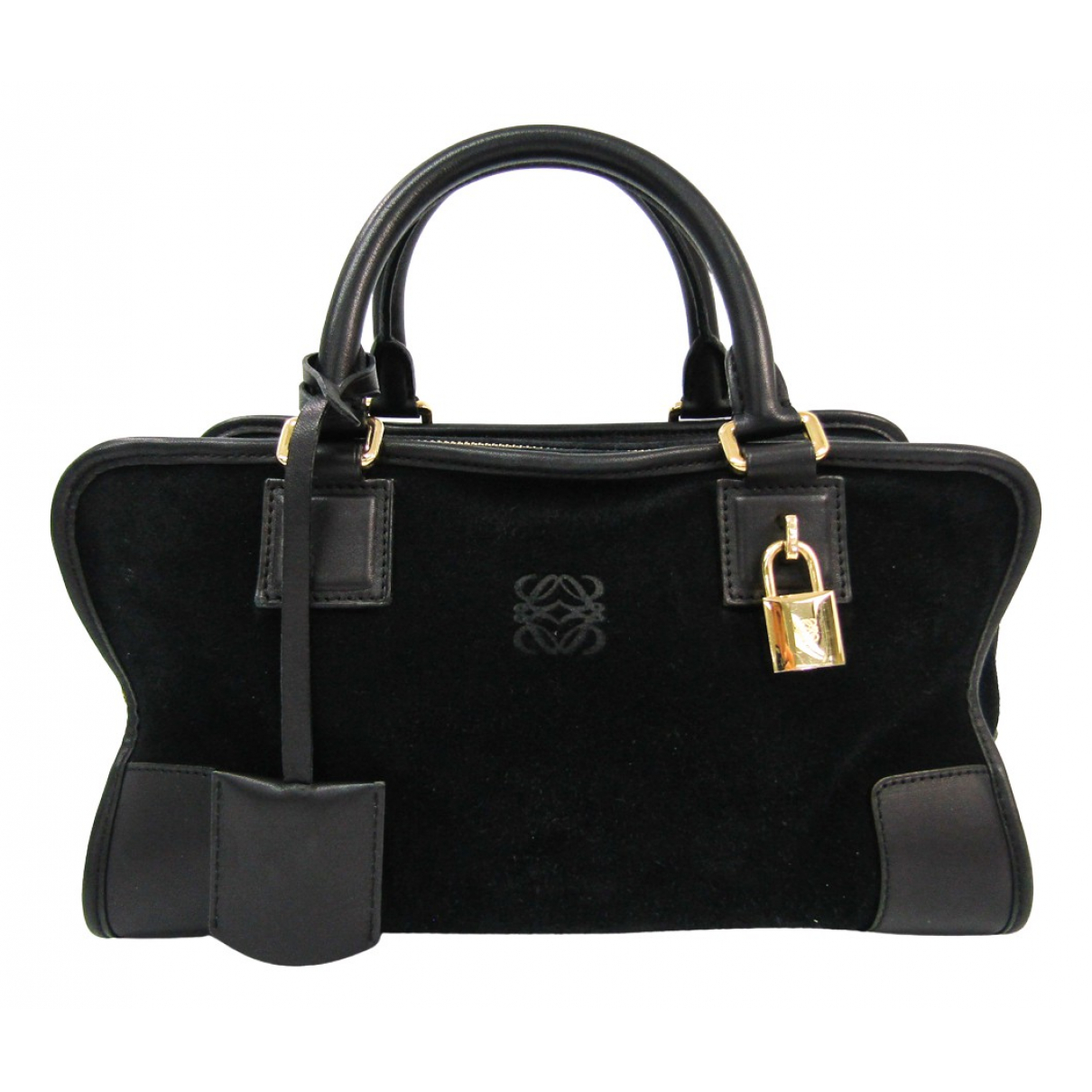 Loewe Amazona Black Suede handbag for Women \N