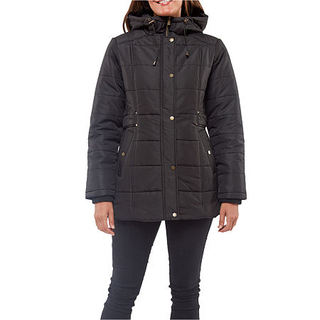 Details Hooded Heavyweight Puffer Jacket, X-large , Black