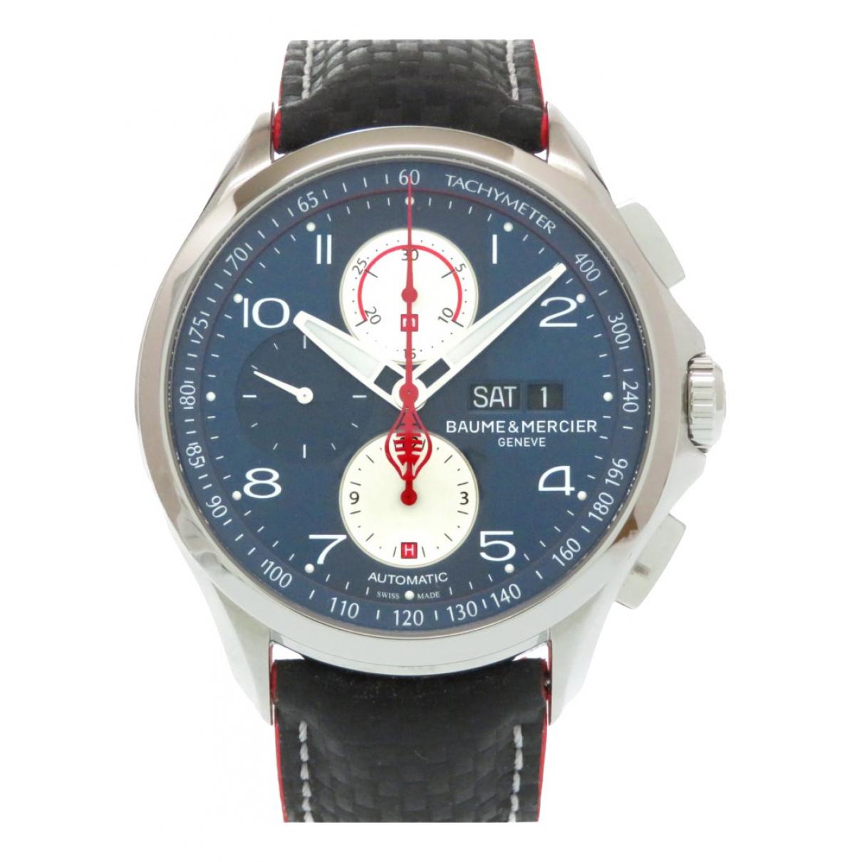 Baume Et Mercier Clifton  Uhr in  Blau Stahl