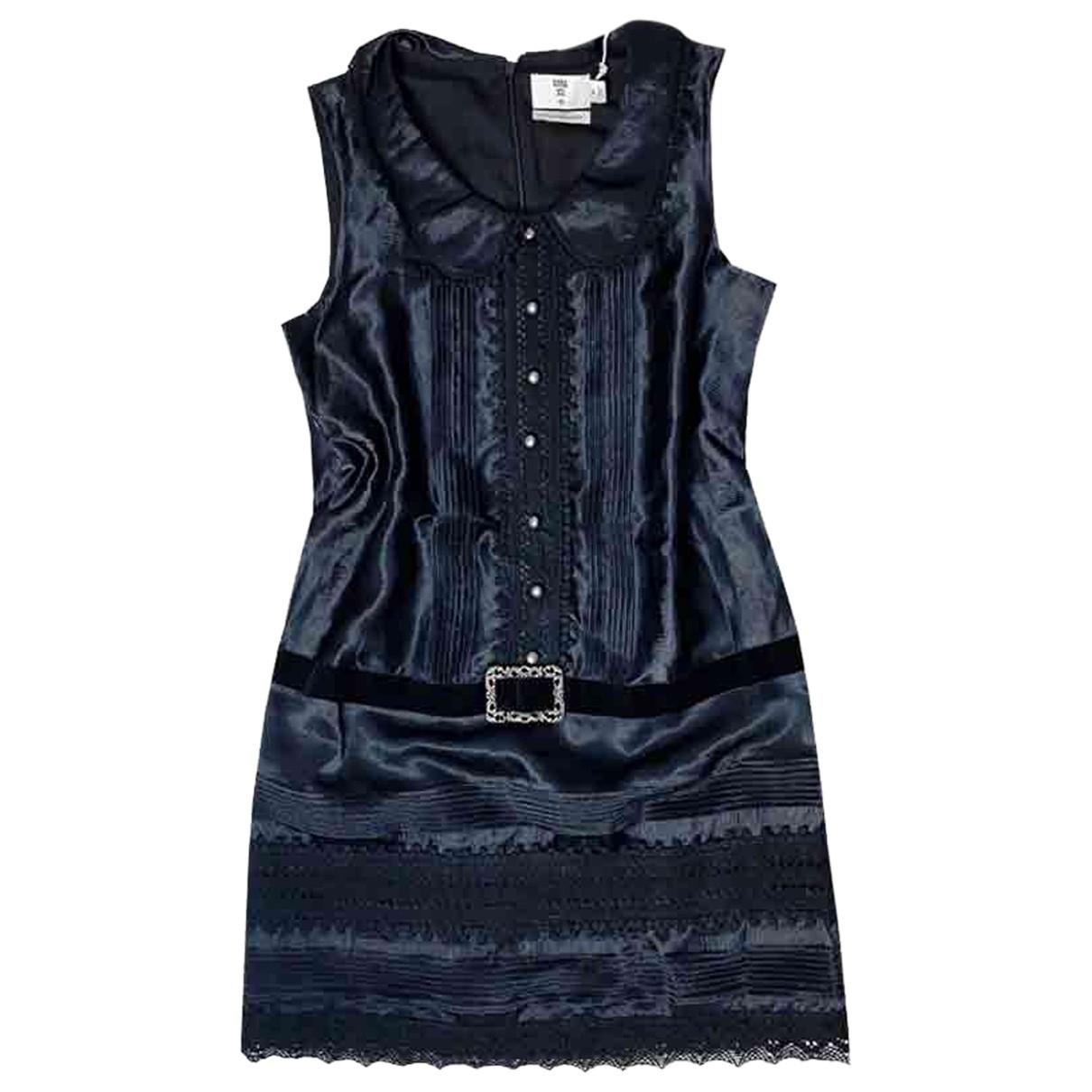 Anna Sui \N Kleid in  Schwarz Polyester