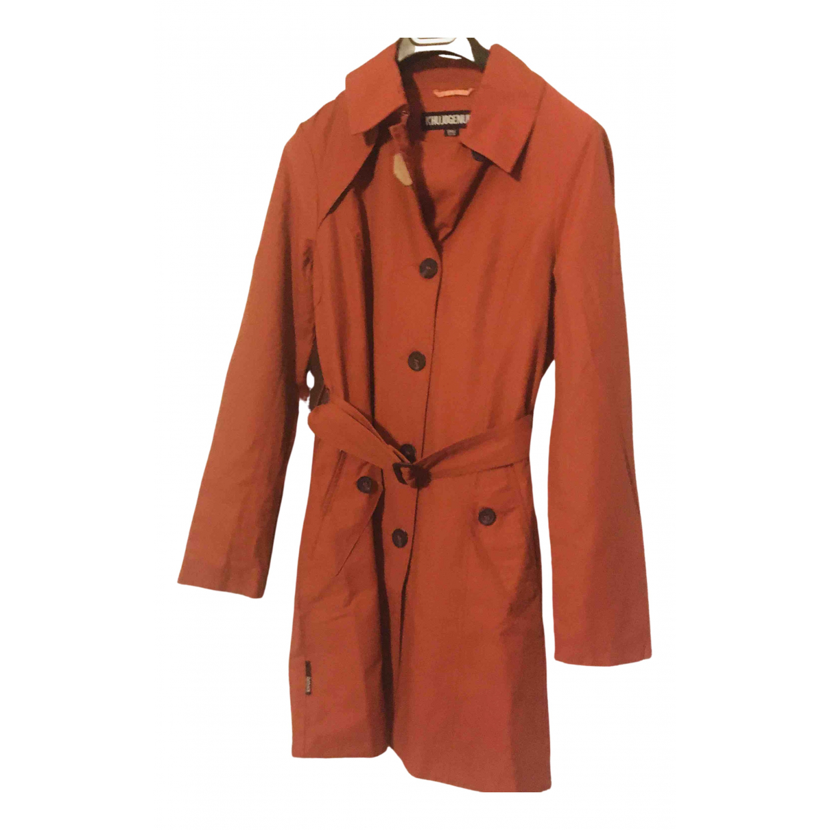 Non Signé / Unsigned \N Burgundy Cotton Trench coat for Women S International