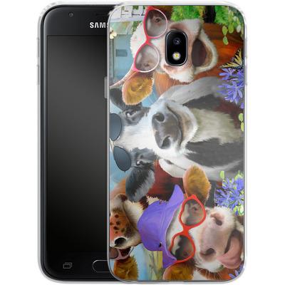 Samsung Galaxy J3 (2017) Silikon Handyhuelle - Udderly Cool Selfie von Howard Robinson