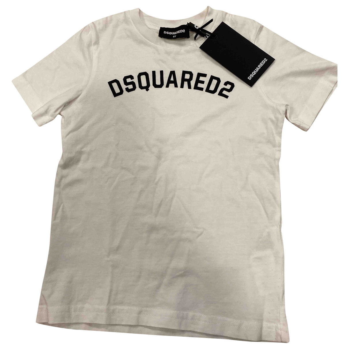 Dsquared2 \N White Cotton  top for Kids 6 years - until 45 inches UK
