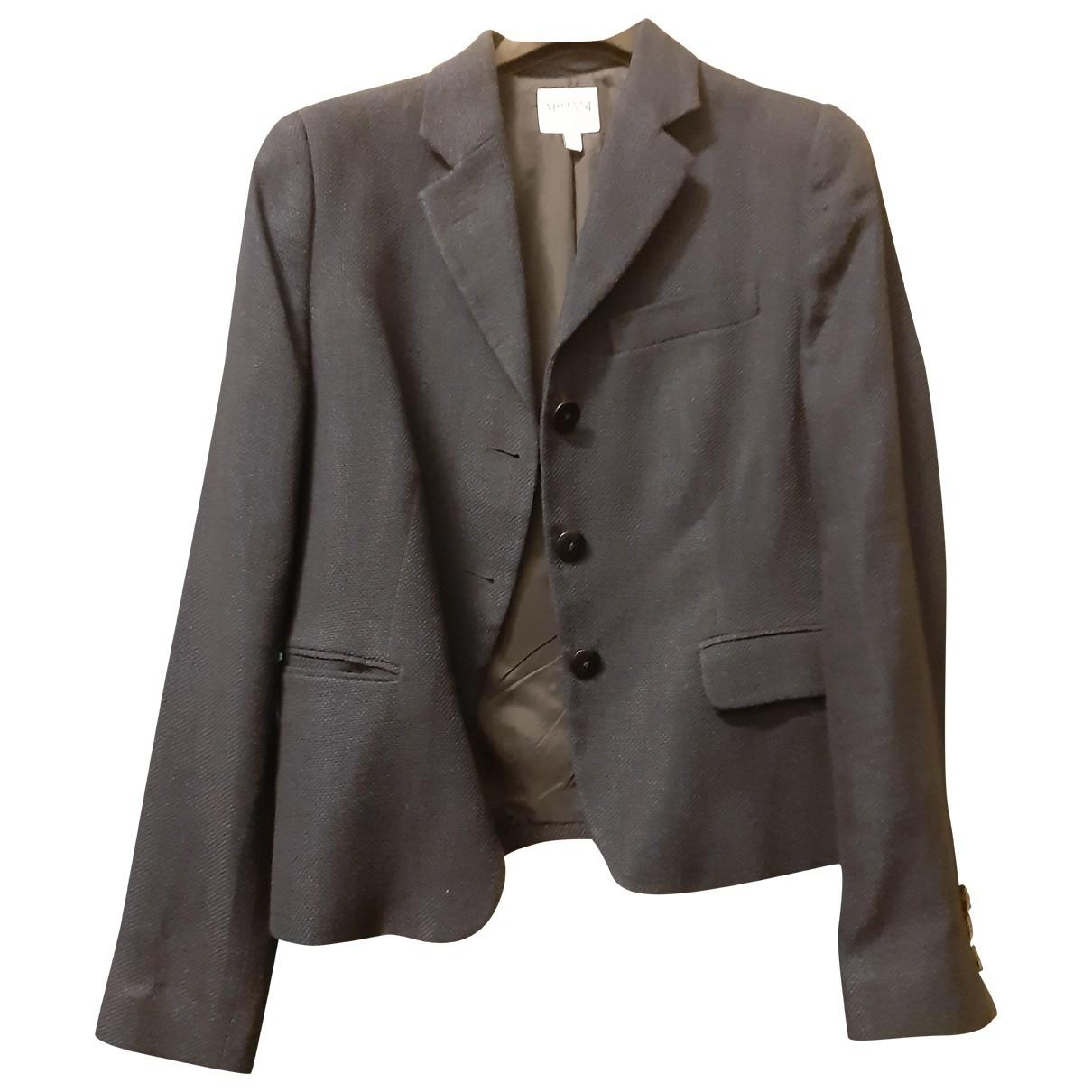 Armani Collezioni \N Blue Linen jacket for Women 42 IT