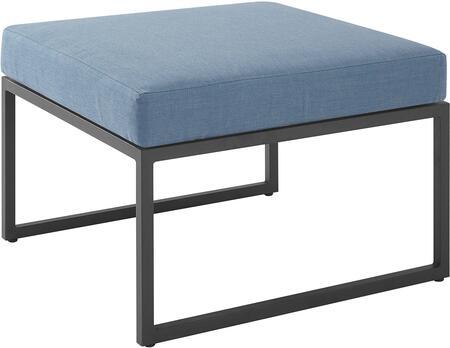 ORTRINOTBU Outdoor Modern Modular Patio Ottoman with Cushion in