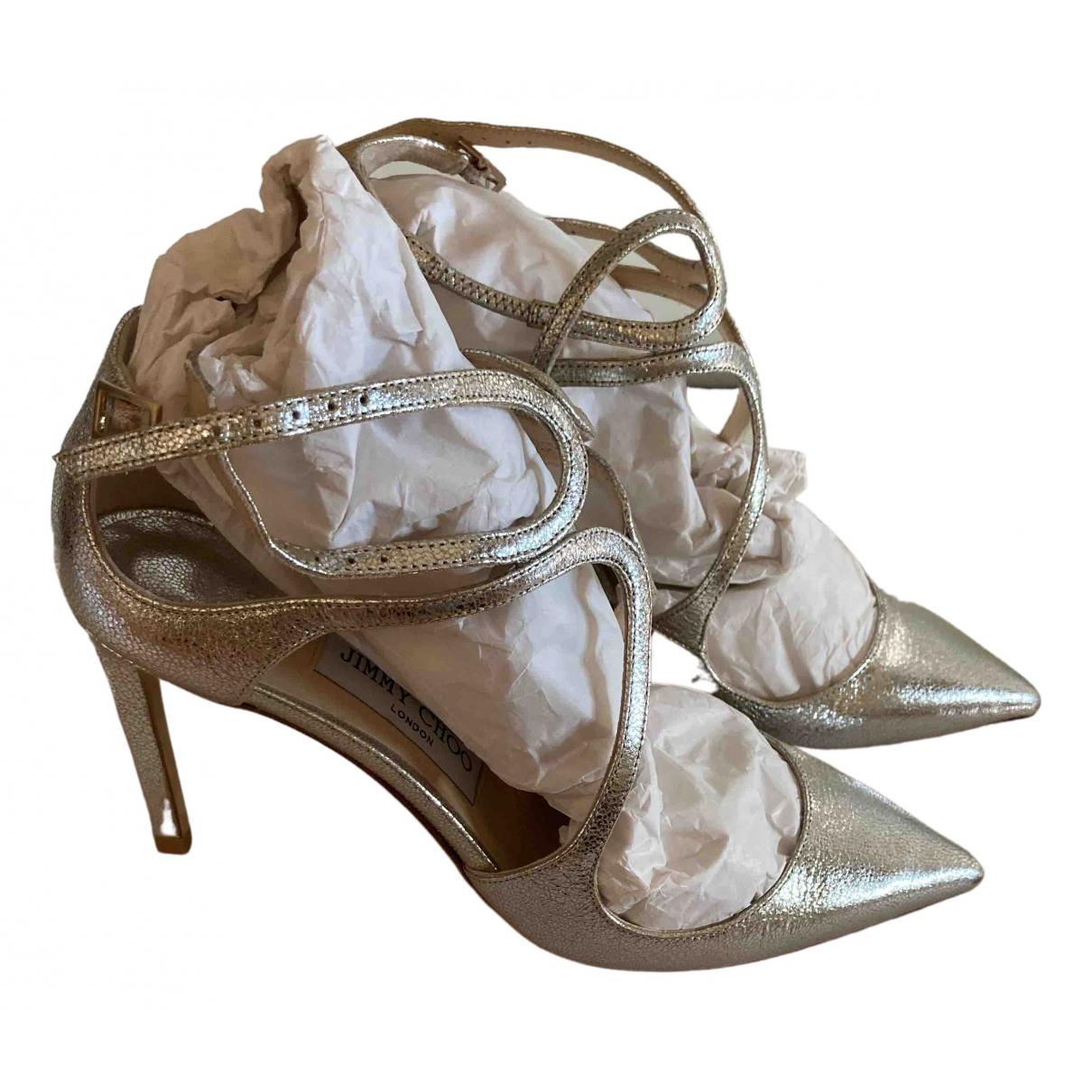 Jimmy Choo \N Metallic Leather Heels for Women 38 IT