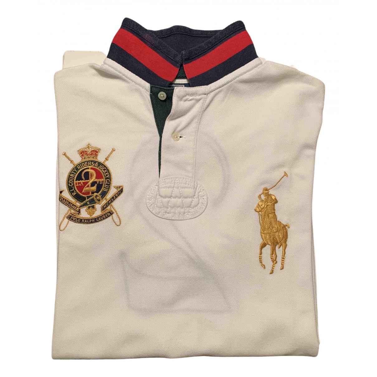 Polo Ralph Lauren - Polos Polo Rugby manches longues pour homme en coton - blanc