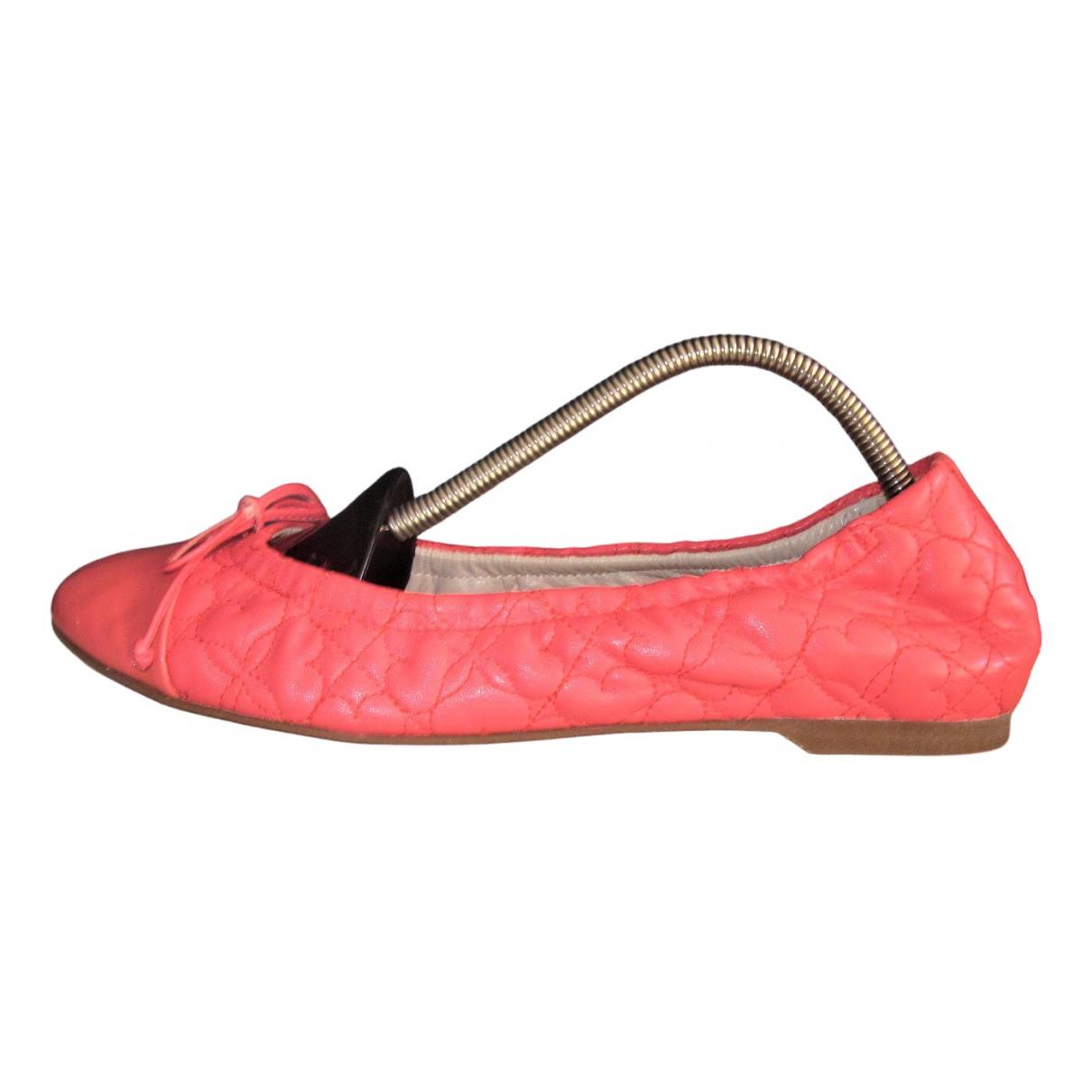 Lk Bennett \N Pink Leather Ballet flats for Women 37 EU