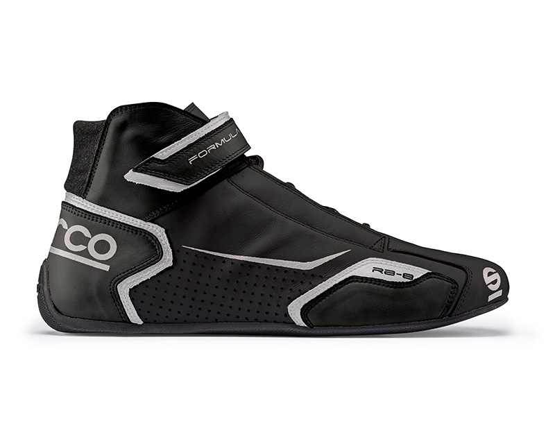 Sparco 00123646NRSI Black and Silver Formula RB-8 Driving Shoes EU 46 | US 12.5