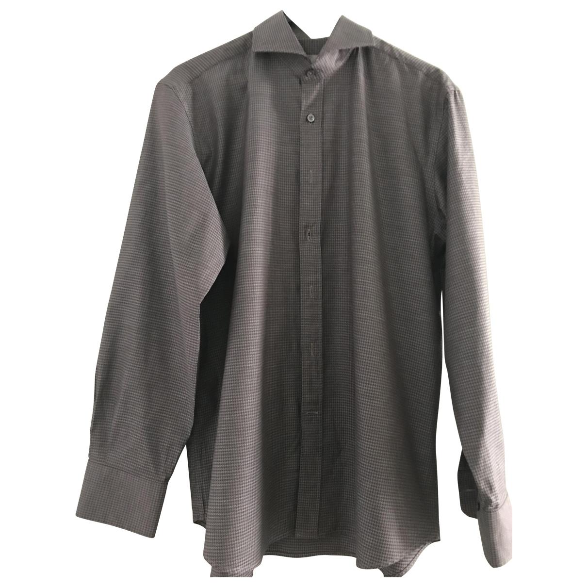 Canali \N Hemden in  Braun Baumwolle