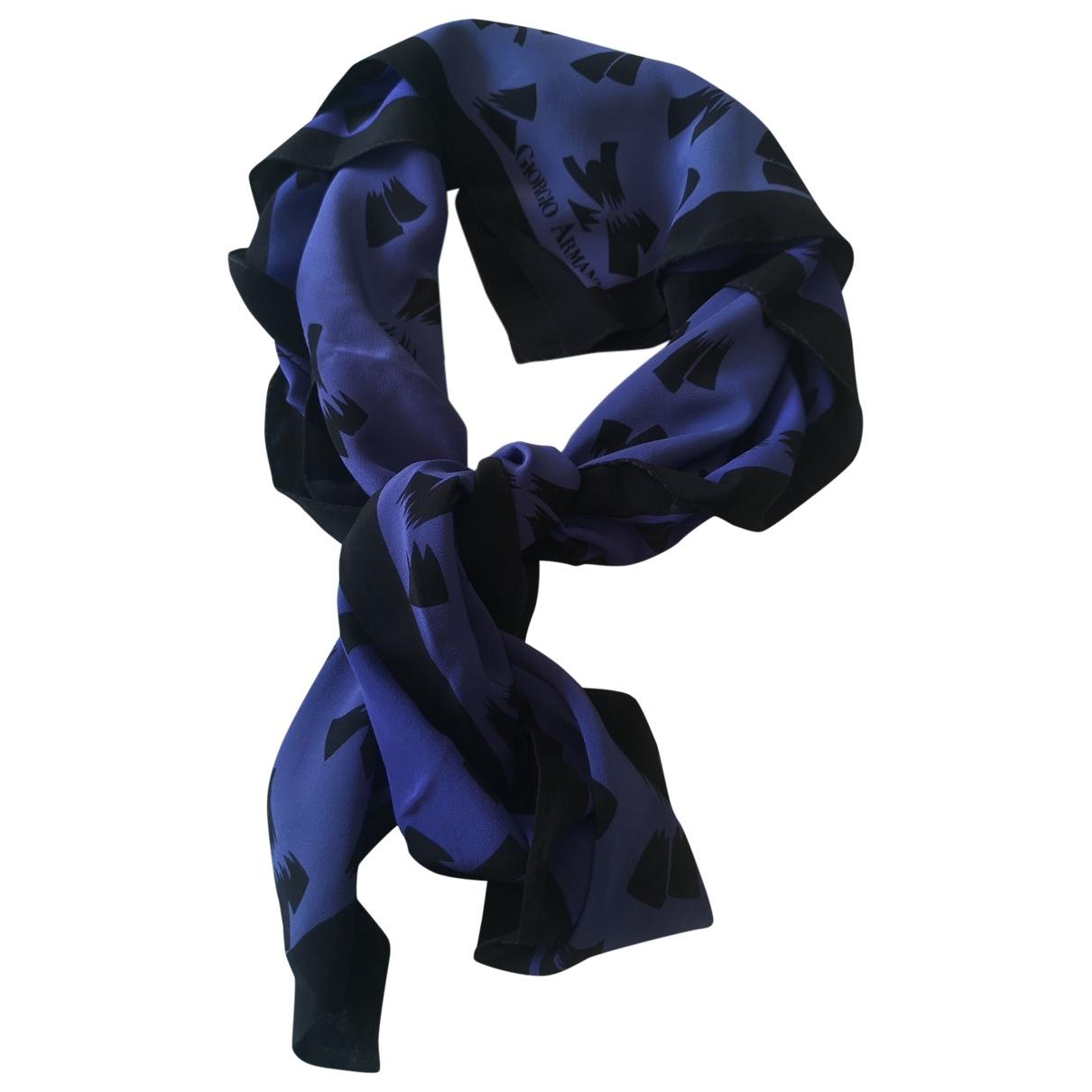 Giorgio Armani \N Schal in  Blau Seide