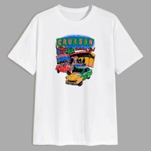 Guys Car & Letter Graphic Tee