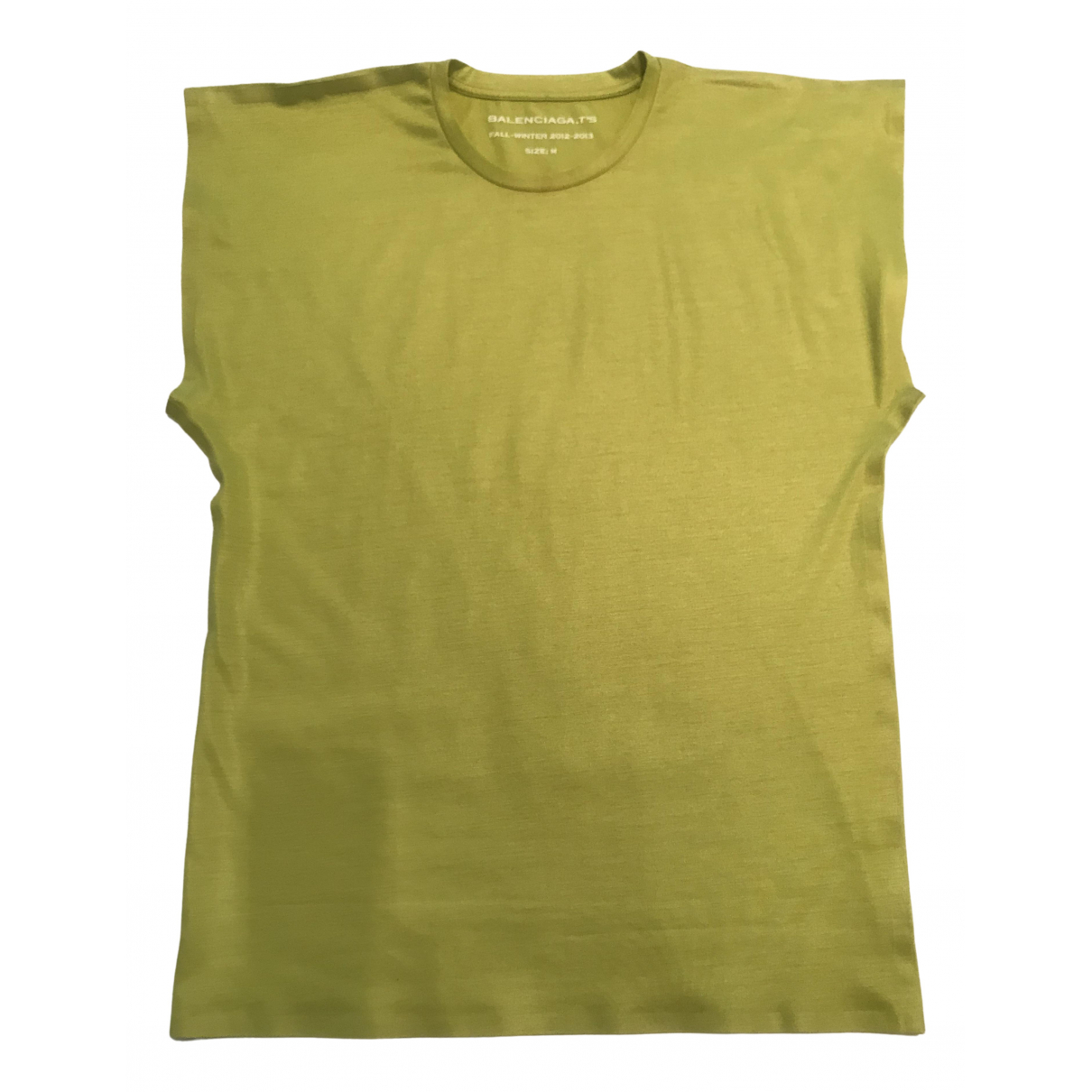 Balenciaga - Top   pour femme en coton - vert
