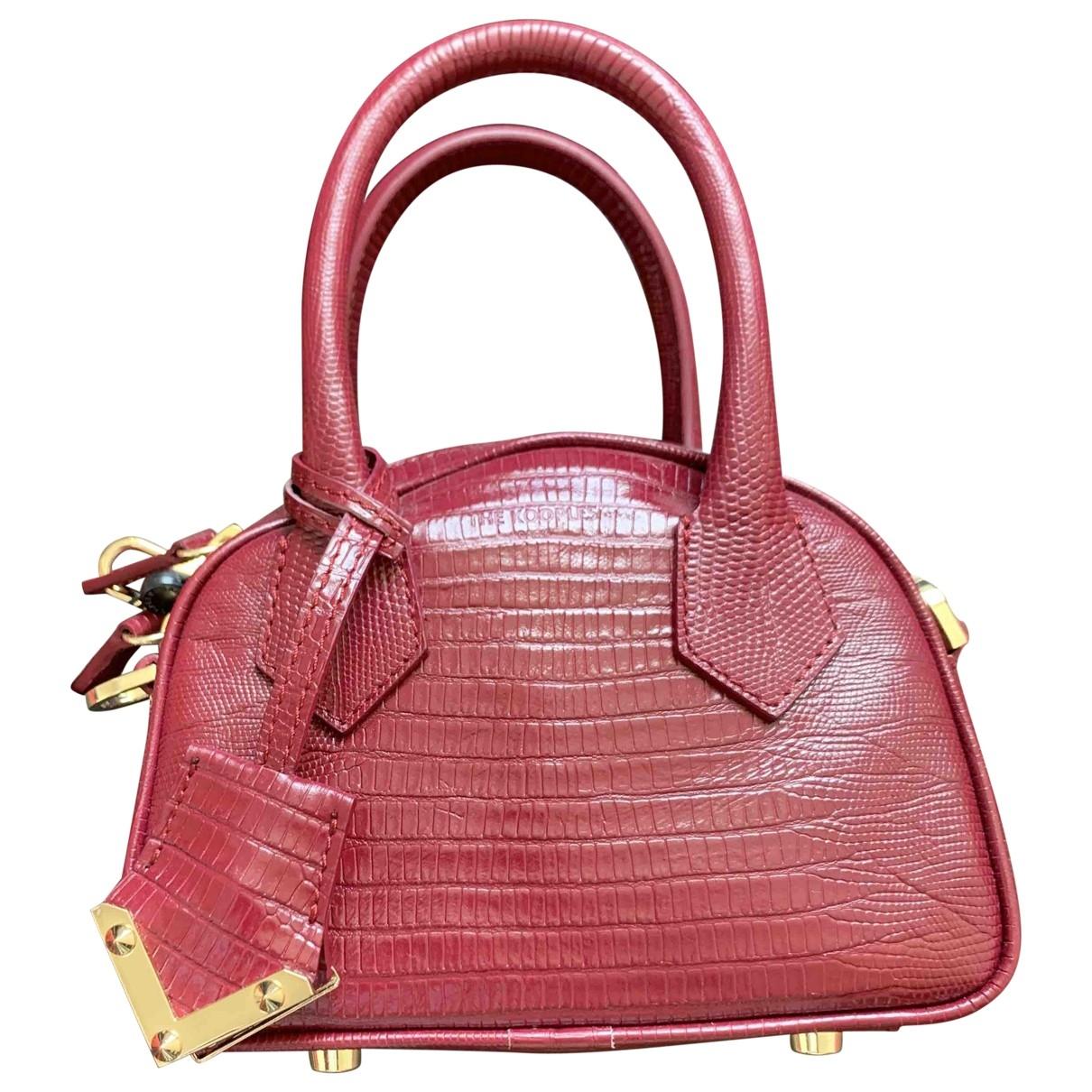The Kooples Irina Burgundy Leather handbag for Women \N