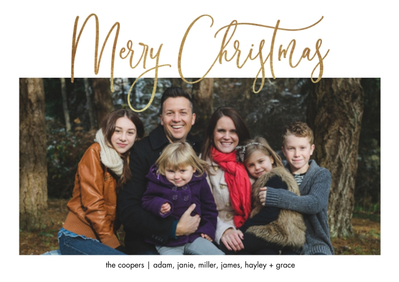 Christmas Photo Cards Flat Glossy Photo Paper Cards with Envelopes, 5x7, Card & Stationery -Beautiful Script