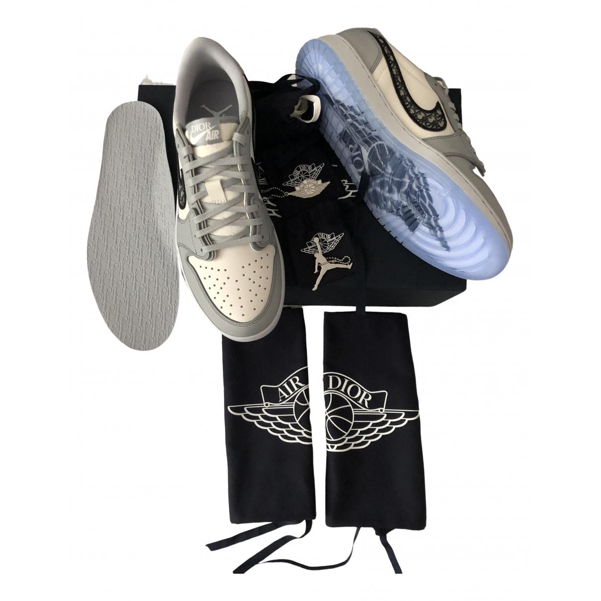 Jordan X Dior \N Sneakers in  Weiss Leder