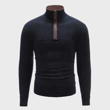 Jersey con cremallera delantera de cuello alto