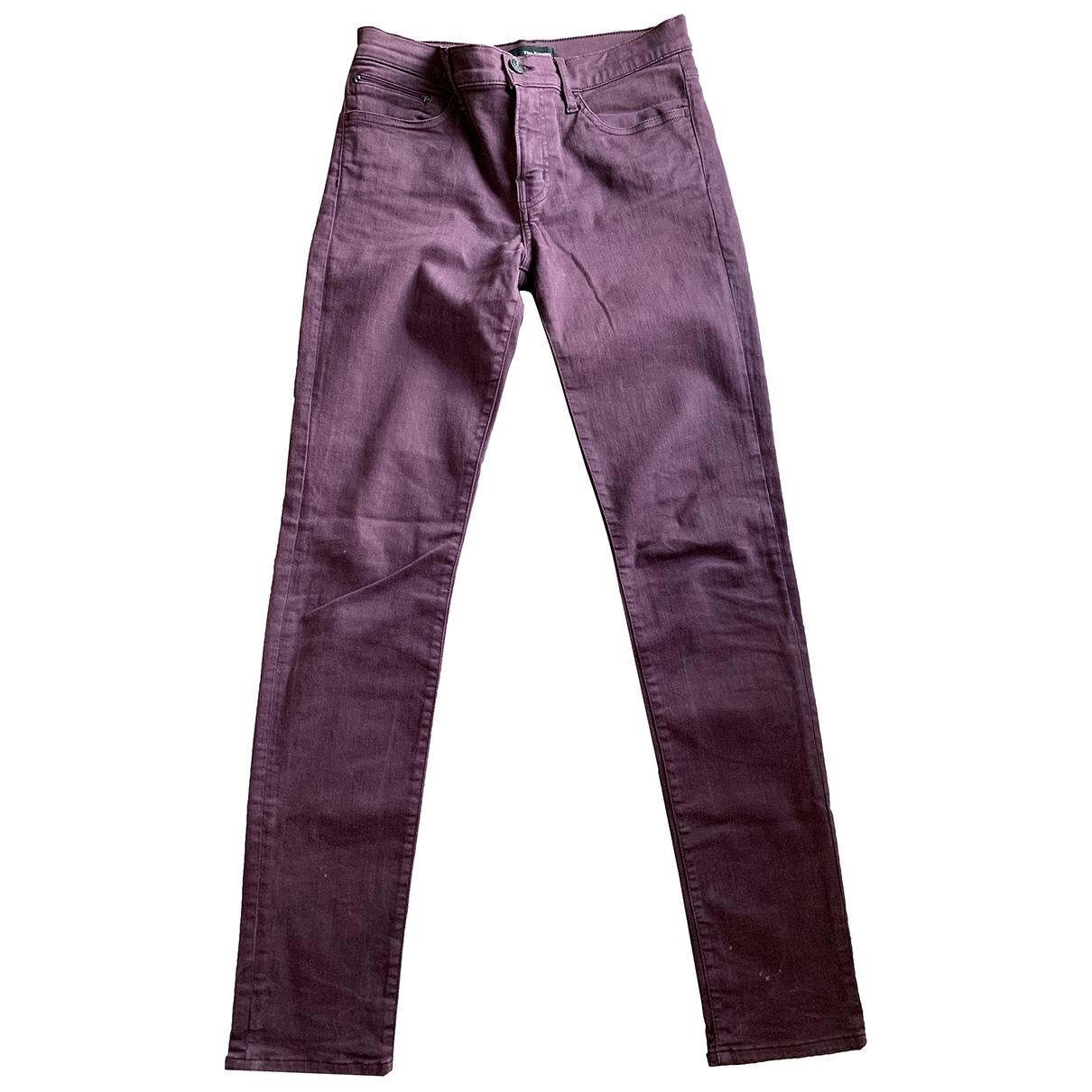 The Kooples \N Purple Cotton Trousers for Women 36 FR