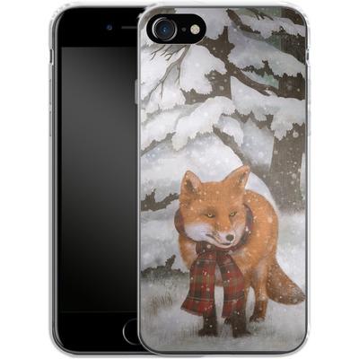 Apple iPhone 8 Silikon Handyhuelle - Winter Fox von Terry Fan
